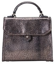 Liebeskind Berlin Glendale Metallic Leather Mini Top-handle Bag.
