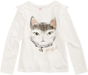 Epic Threads Cat-Print T-Shirt, Toddler Girls (2T-5T), Created for Macy's