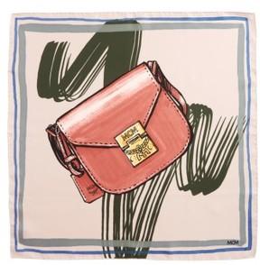 MCM Women's Handbag Print Square Silk Scarf