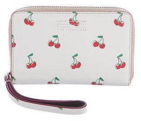 Marc by Marc Jacobs Grained Leather Compact Wallet - WHITE - STYLE
