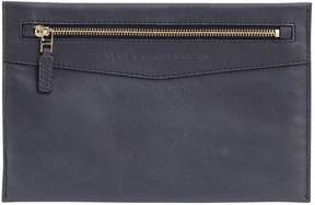Victoria Beckham Navy Leather Clutch Bag