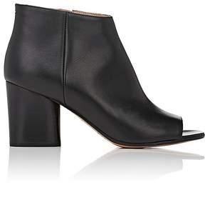 Maison Margiela Women's Leather Peep-Toe Ankle Boots