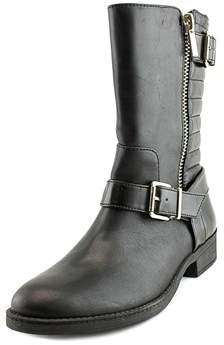 INC International Concepts Blayre Round Toe Leather Mid Calf Boot.