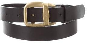 Marc Jacobs Gold-Tone Buckle Leather Belt