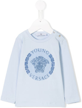 Versace medusa print long sleeve T-shirt