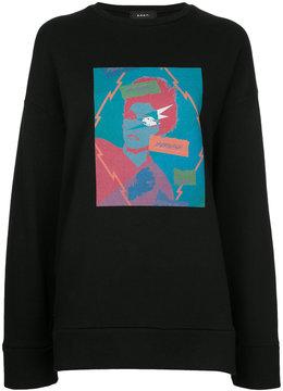 G.V.G.V. burning graphic print sweatshirt
