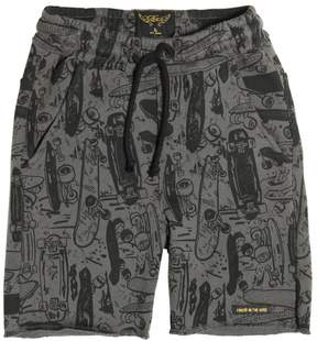 Finger In The Nose Skateboards Printed Cotton Shorts