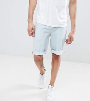 Asos DESIGN Tall Denim Shorts In Slim Light Wash