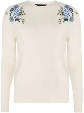 Dorothy Perkins Oatmeal Embroidered Jumper