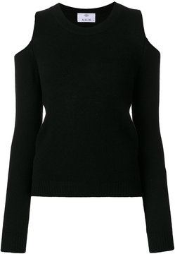Allude shoulderless sweater