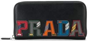 Prada Leather Logo Zip Wallet