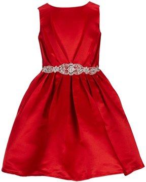 Blush by Us Angels Little Girls 4-6X Sleeveless Sequin-Waist Dress