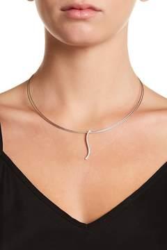 Alor 18K White Gold Diamond Detail Wavy Pendant Necklace - 0.15ctw