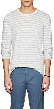 ATM Anthony Thomas Melillo Men's Striped Cotton Long-Sleeve T-Shirt