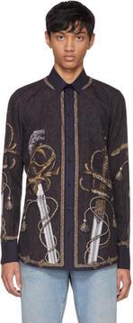 Dolce & Gabbana Navy Knight Shirt