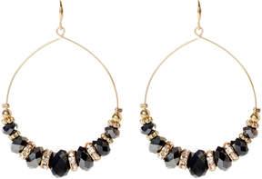 Amrita Singh Austrian Crystal & Gunmetal Glass Apiya Drop Earrings
