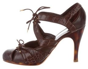 Christian Dior Deco Embossed Pumps