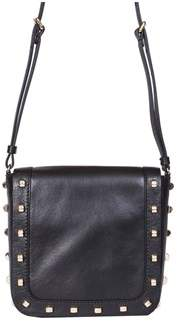 Borbonese Women's Black Leather Shoulder Bag.
