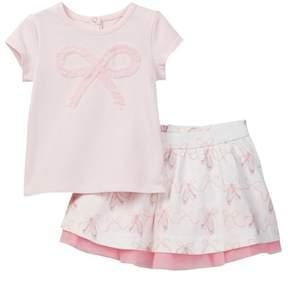 Kate Spade bow tee & skirt set (Baby Girls)