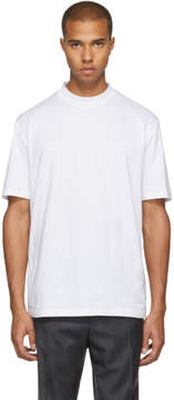 Lanvin White High Collar T-Shirt