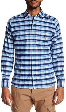 Psycho Bunny Long Sleeve Flannel Regular Fit Sport Shirt