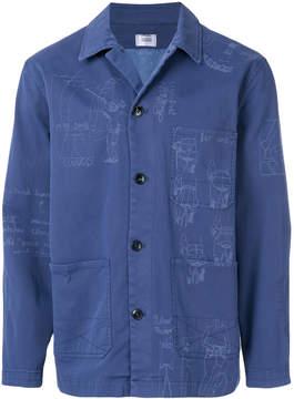 Closed printed shirt jacket