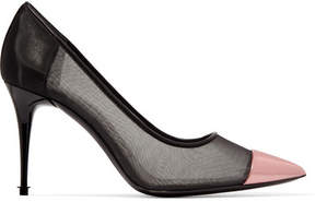 Tom Ford Metallic Leather And Mesh Pumps - Black