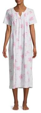 Carole Hochman Floral Cotton Nightgown