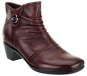 Earth Origins Leather Ankle Boots - Mallory