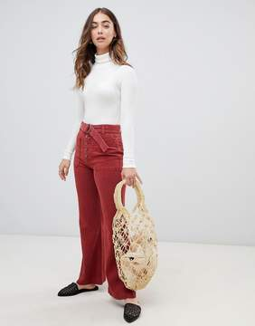 Free People Red Trousers