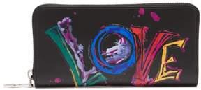 Christian Louboutin Panettone Leather Wallet - Womens - Black Multi
