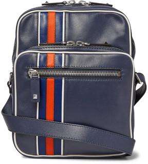 Valentino Striped Leather Messenger Bag