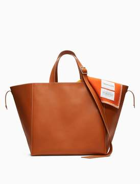 Calvin Klein oversized tote in calf leather with pendleton lining