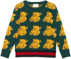 Children's bear jacquard sweater