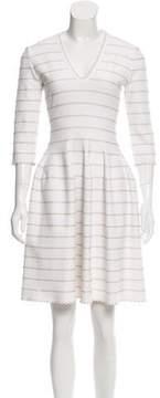 Alaia Jacquard Fit-And-Flare Dress
