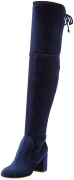Charles by Charles David Owen Stretch-Velvet Over-The-Knee Boot