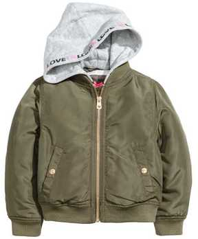 H&M Hooded Bomber Jacket