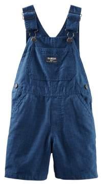 Carter's OshKosh Baby Clothing Outfit Boys Plaid Canvas Shortalls Blue Mini Check