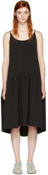 Edit Black Curved Peplum Dress