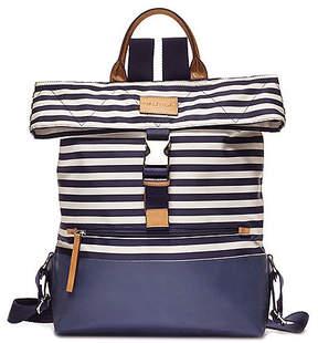Nautica Modern Trail Backpack - Navy & Natural Stripe