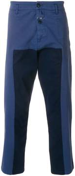 Closed panelled drop crotch trousers