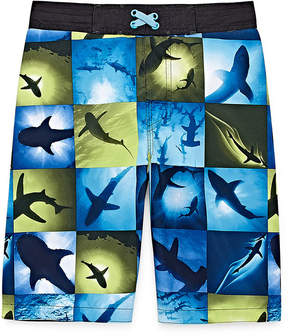 Arizona Photoreal Shark Swim Trunk - Boys 4-20 & Husky
