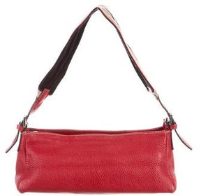 Burberry Grained Leather Shoulder Bag - RED - STYLE