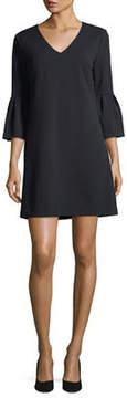 Donna Morgan Bell-Sleeve V-Neck Shift Dress