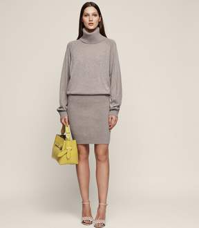 Reiss Cyra Knitted Rollneck Dress