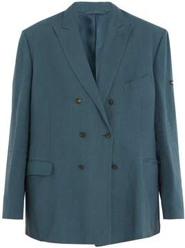 Balenciaga Oversized linen blazer