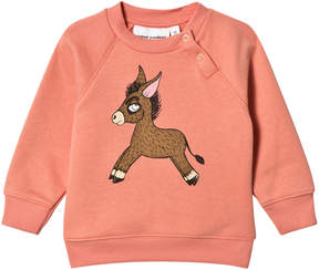 Mini Rodini Pink Donkey Sweatshirt