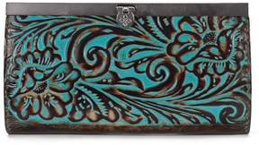 Patricia Nash Tooled Turquoise Collection Cauchy Floral-Embossed Wallet