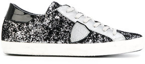 Philippe Model glitter lace up sneakers