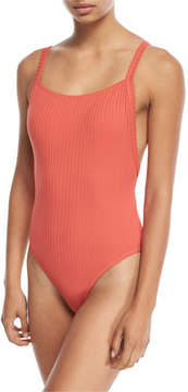 Seafolly Inka Ribbed Tank Maillot One-Piece Swimsuit